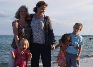 Avec mon amie Helle et sa fille Freya